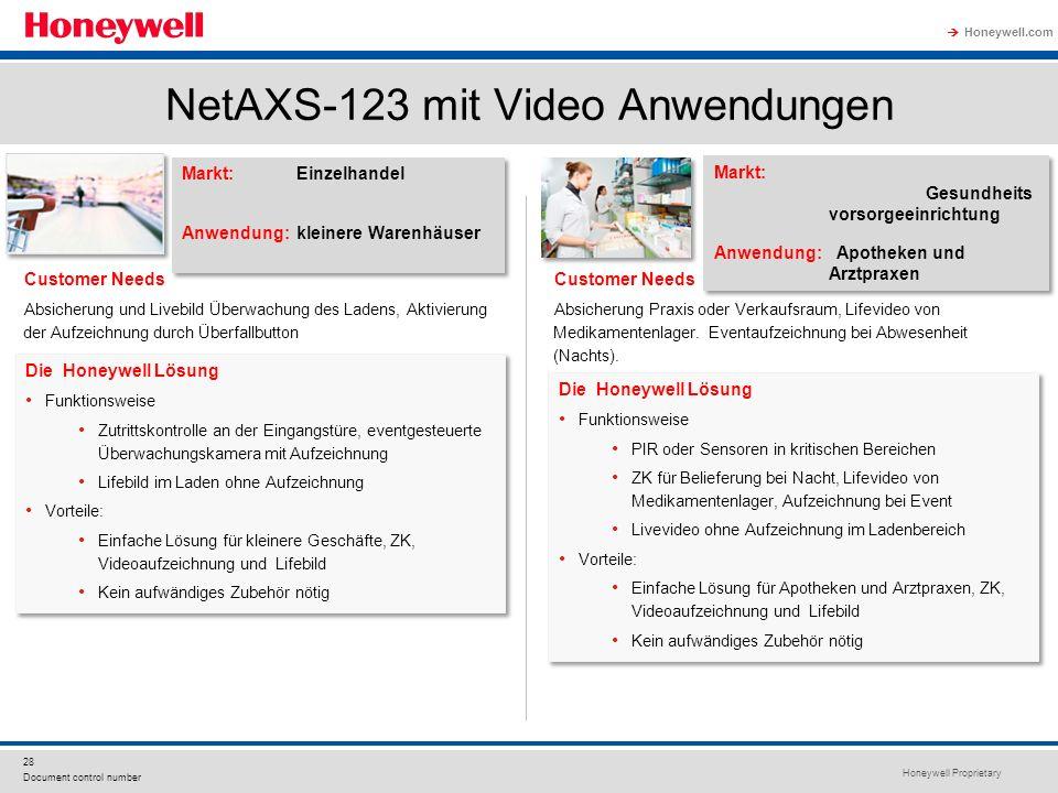 NetAXS-123 mit Video Anwendungen