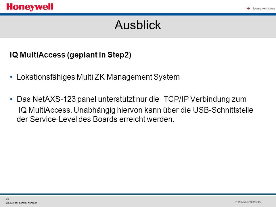 Ausblick IQ MultiAccess (geplant in Step2)