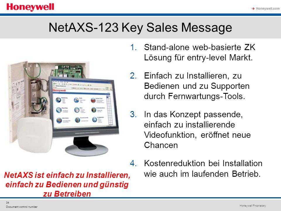 NetAXS-123 Key Sales Message