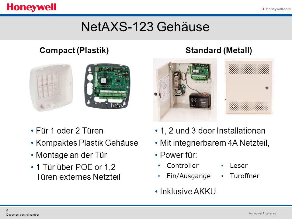 NetAXS-123 Gehäuse Compact (Plastik) Standard (Metall)