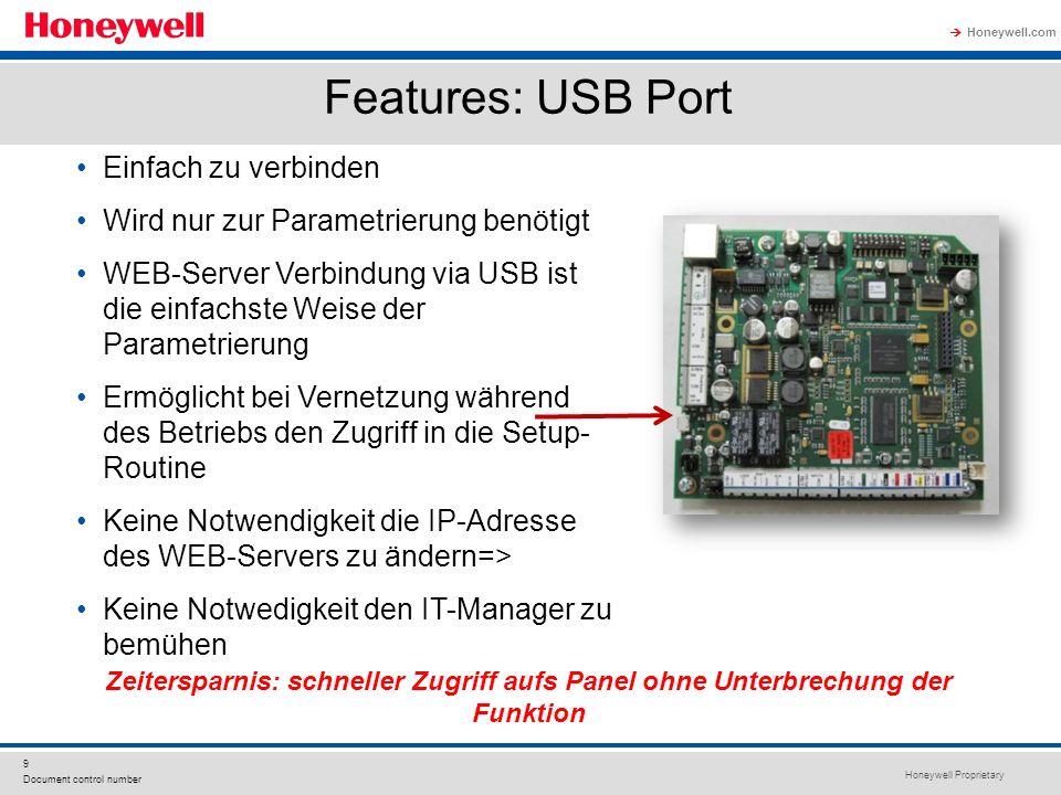 Features: USB Port Einfach zu verbinden