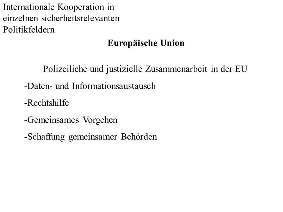 Polizeiliche und justizielle Zusammenarbeit in der EU