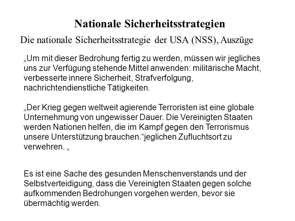 Nationale Sicherheitsstrategien