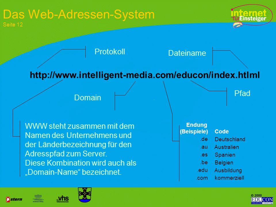 Das Web-Adressen-System Seite 12