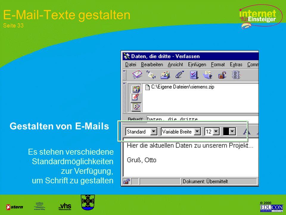 E-Mail-Texte gestalten Seite 33