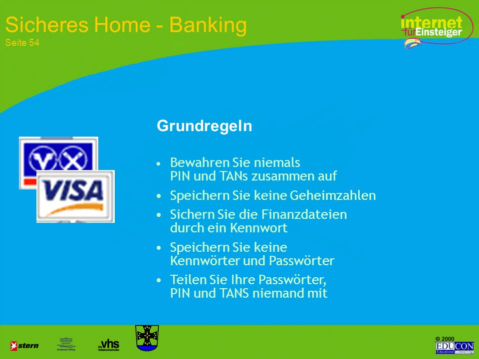 Sicheres Home - Banking Seite 54