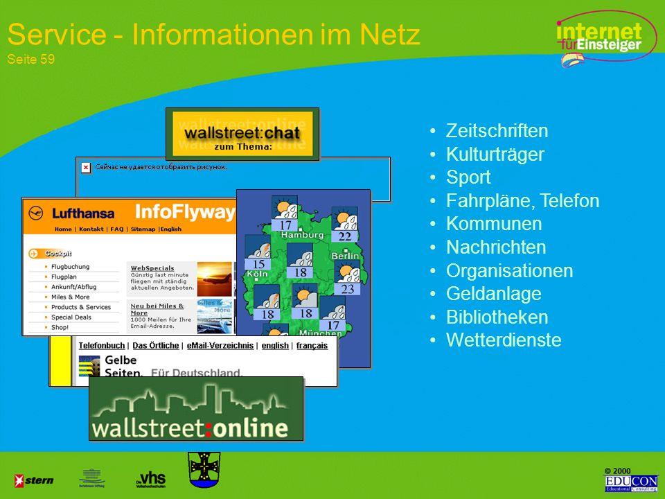 Service - Informationen im Netz Seite 59