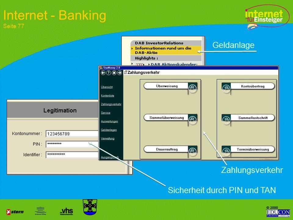 Internet - Banking Seite 77