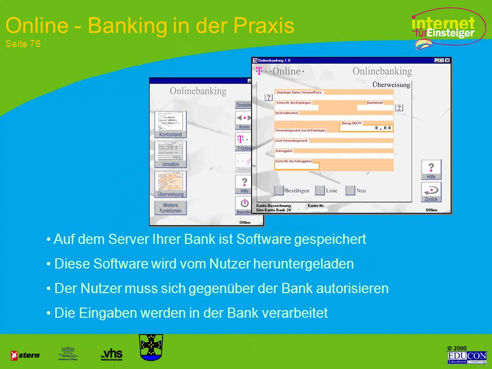 Online - Banking in der Praxis Seite 76