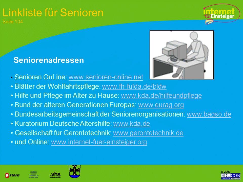 Linkliste für Senioren Seite 104