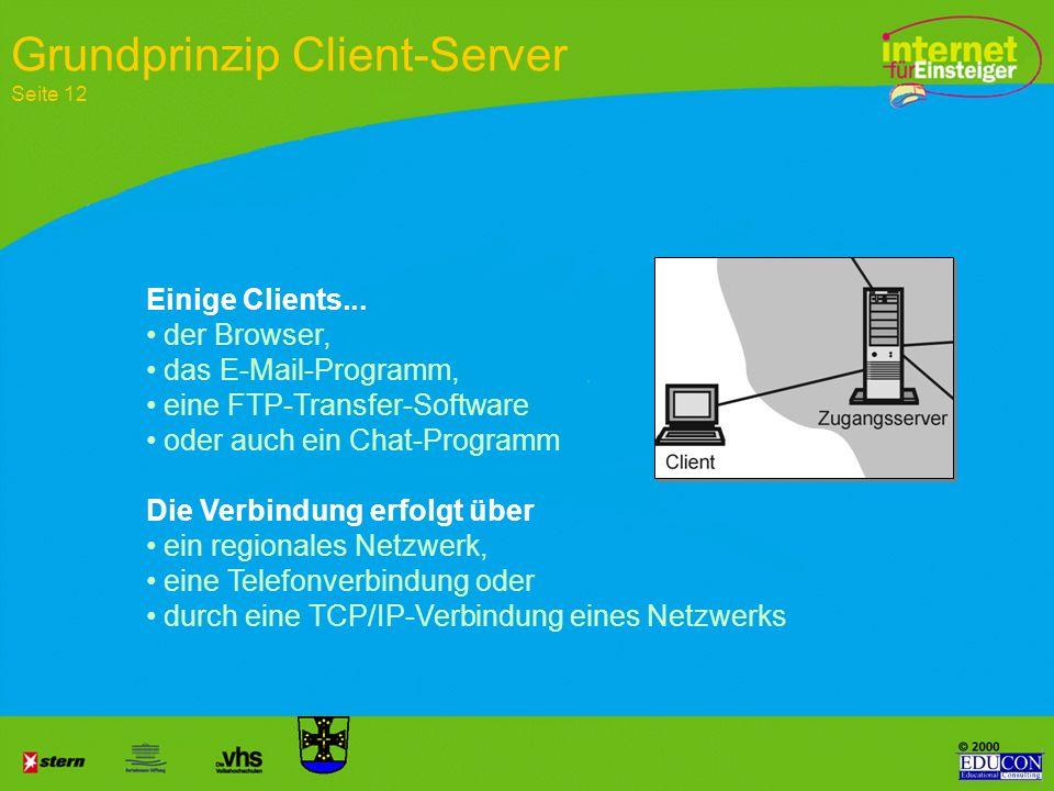 Grundprinzip Client-Server Seite 12
