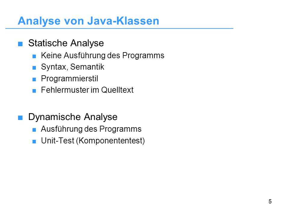 Analyse von Java-Klassen