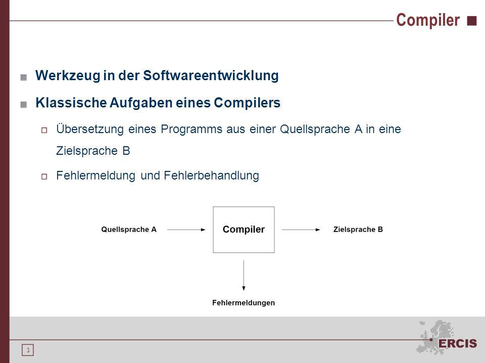 Compiler Werkzeug in der Softwareentwicklung