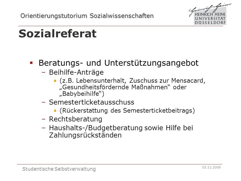 Sozialreferat Beratungs- und Unterstützungsangebot Beihilfe-Anträge