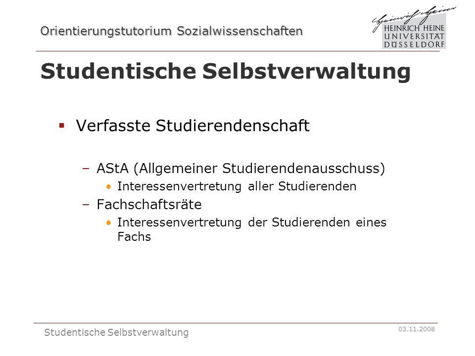 Studentische Selbstverwaltung