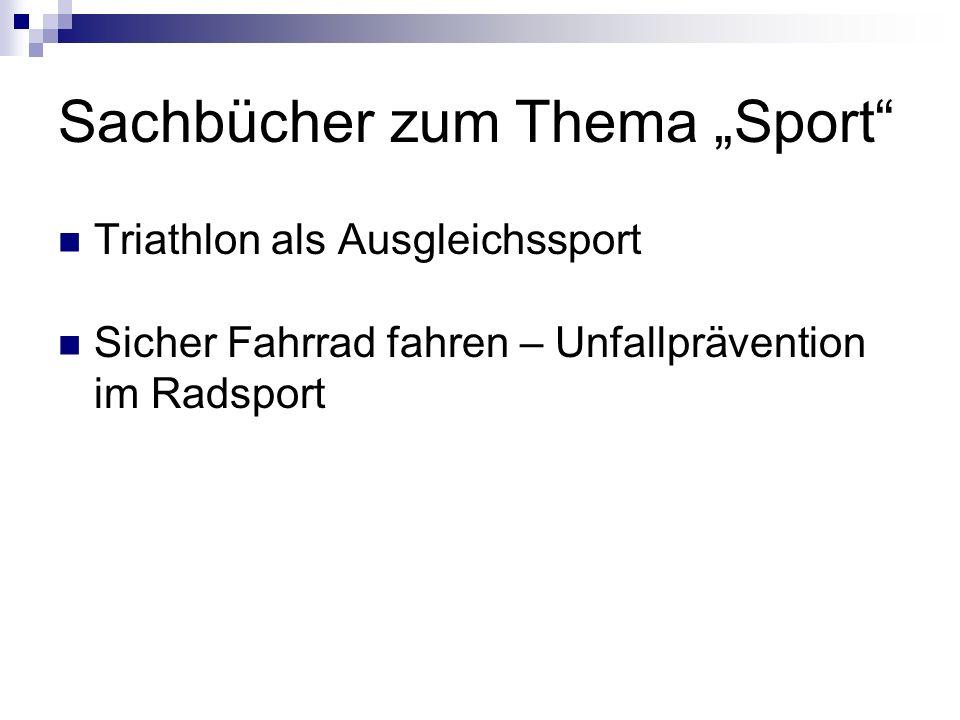 """Sachbücher zum Thema """"Sport"""