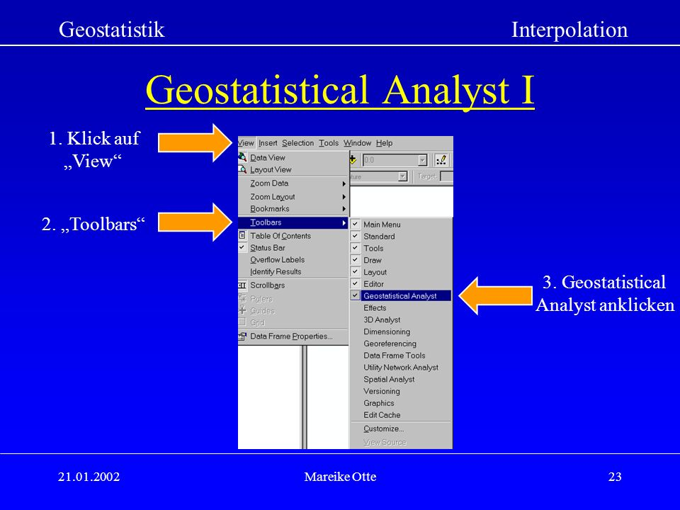 Geostatistical Analyst I