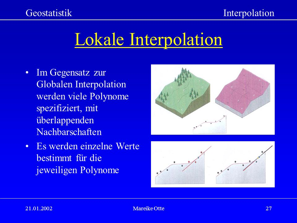 Lokale Interpolation Geostatistik Interpolation