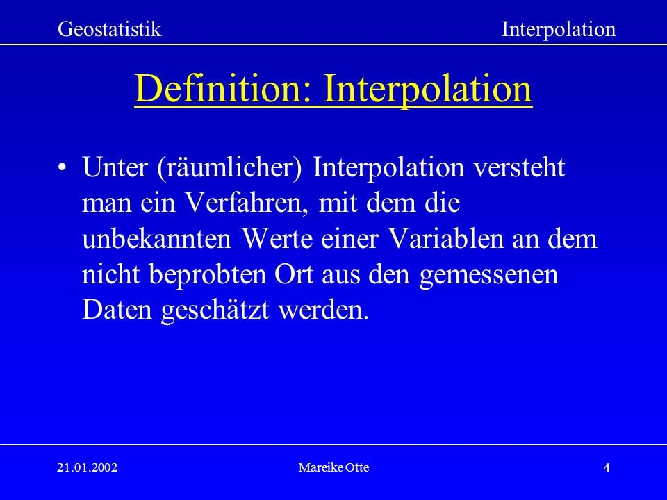 Definition: Interpolation