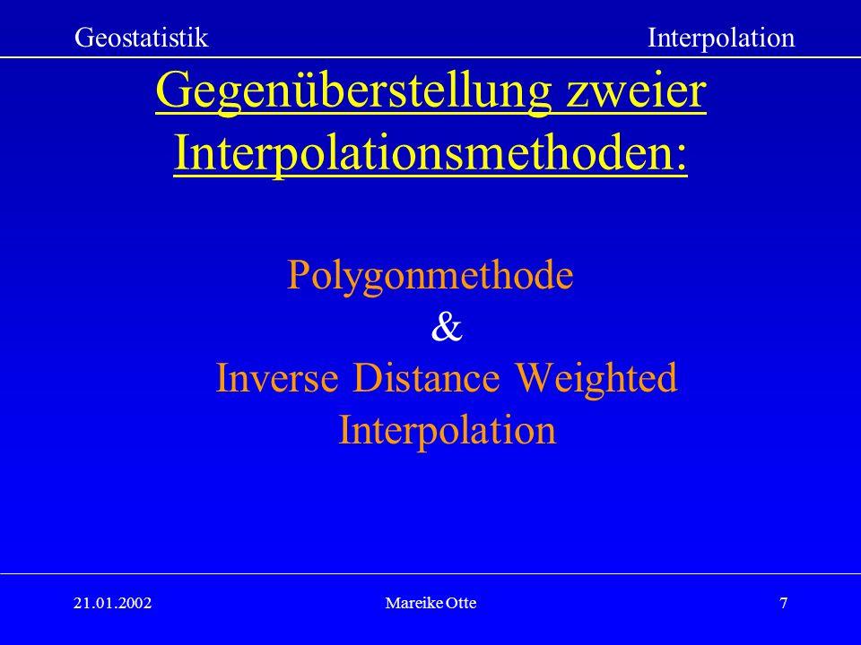 Gegenüberstellung zweier Interpolationsmethoden: