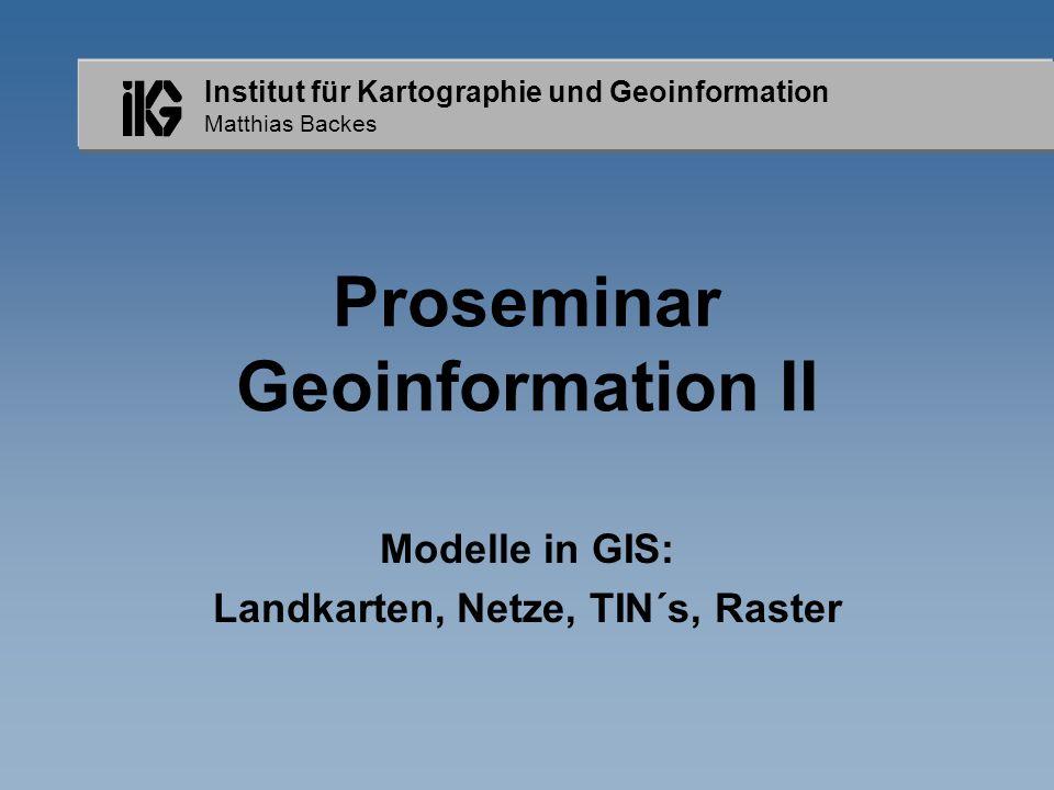Proseminar Geoinformation II
