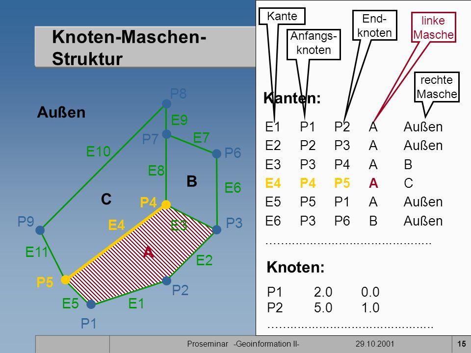 Knoten-Maschen- Struktur