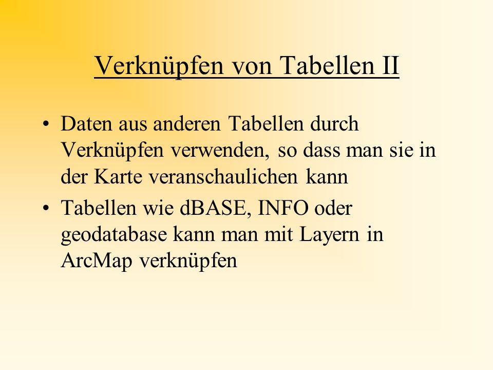 Verknüpfen von Tabellen II