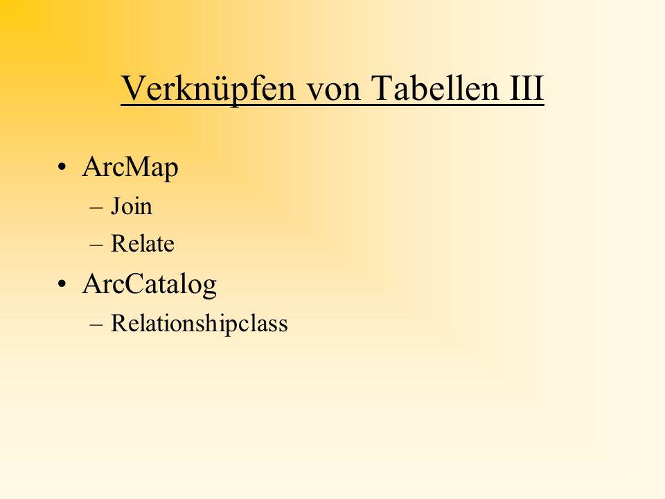 Verknüpfen von Tabellen III