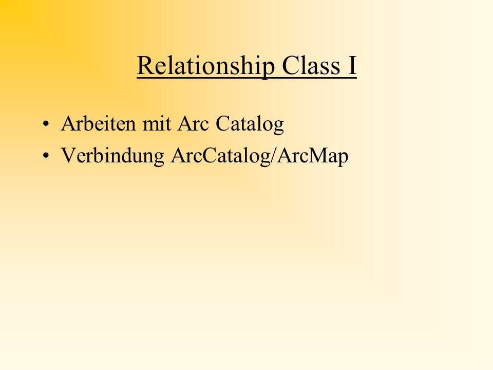 Relationship Class I Arbeiten mit Arc Catalog