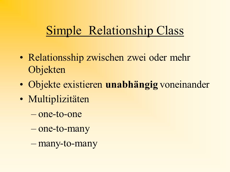 Simple Relationship Class