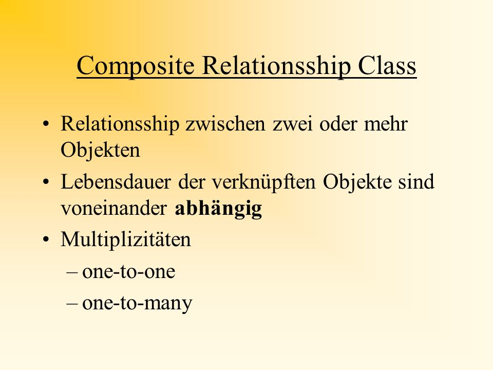 Composite Relationsship Class