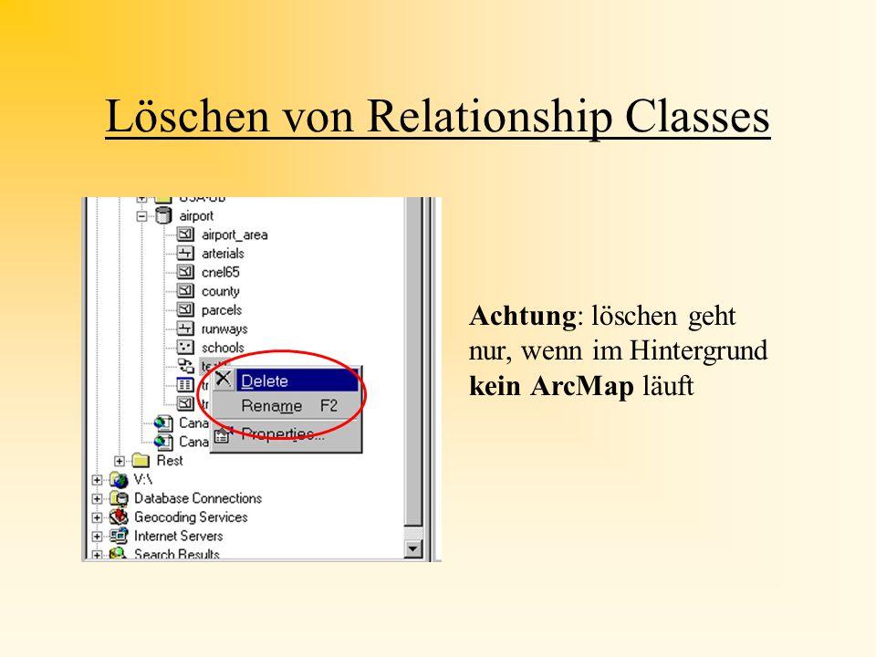 Löschen von Relationship Classes