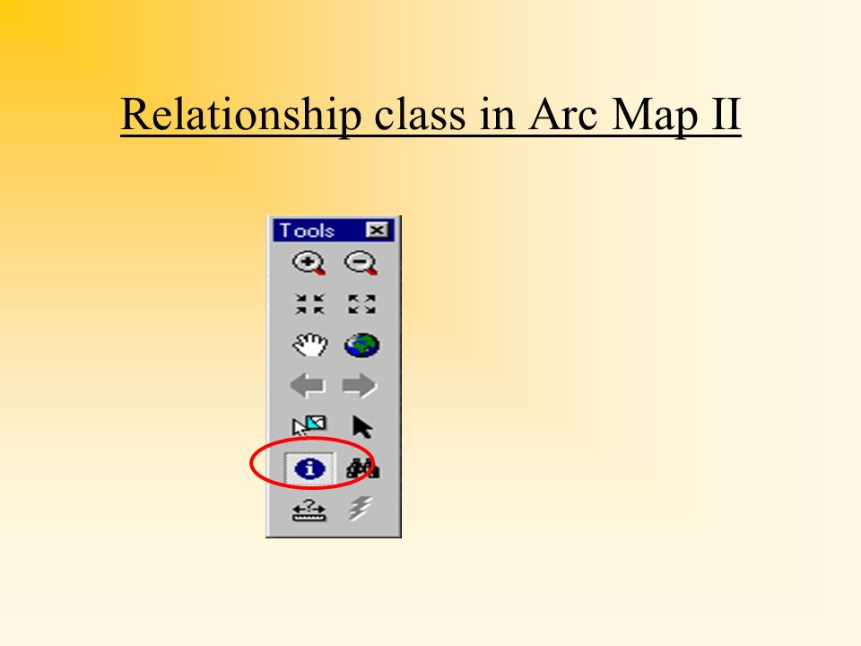 Relationship class in Arc Map II