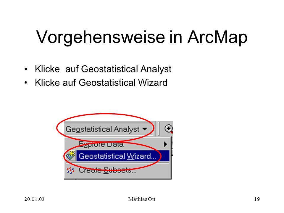 Vorgehensweise in ArcMap
