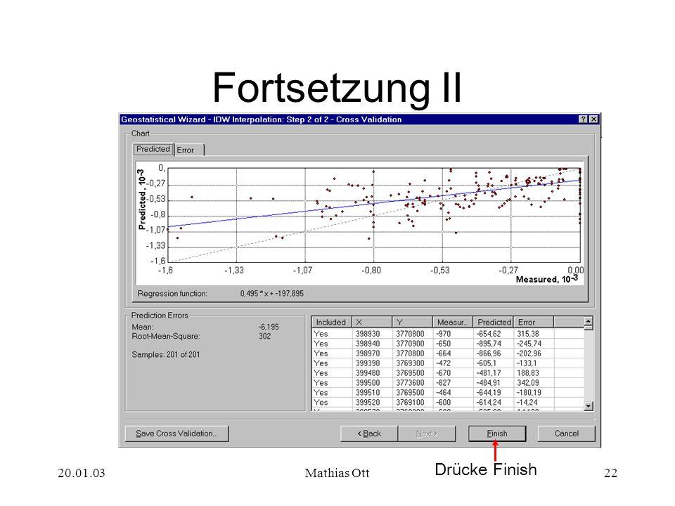 Fortsetzung II Drücke Finish 20.01.03 Mathias Ott