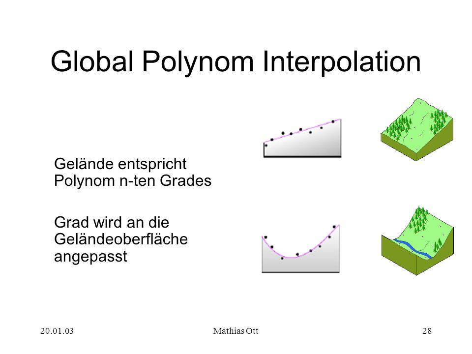 Global Polynom Interpolation