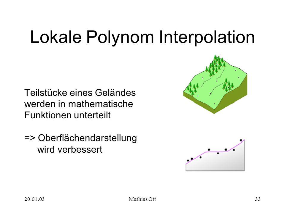 Lokale Polynom Interpolation