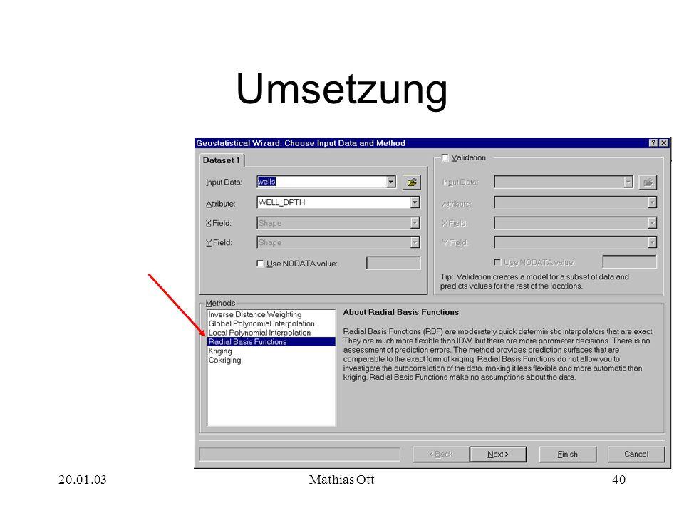 Umsetzung 20.01.03 Mathias Ott