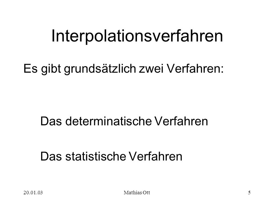 Interpolationsverfahren