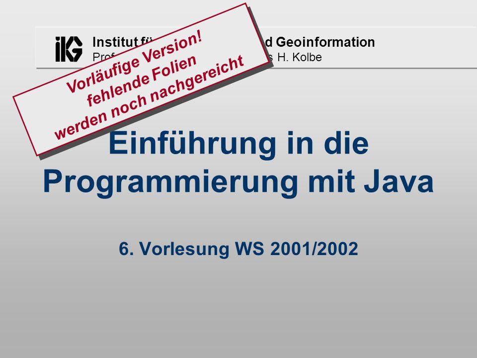 Einführung in die Programmierung mit Java