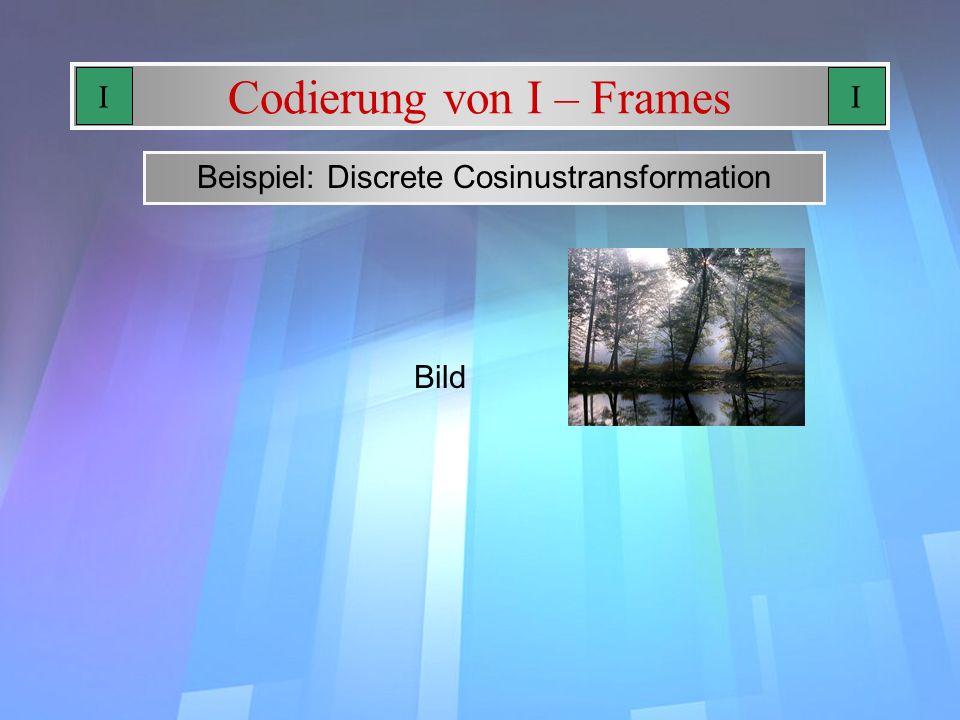 Codierung von I – Frames