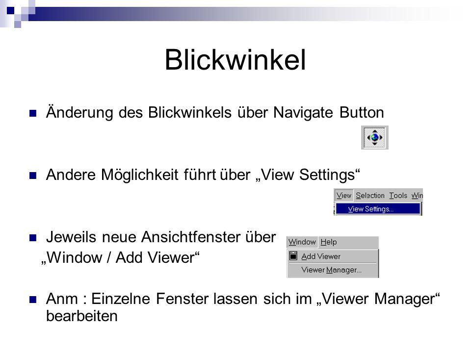 Blickwinkel Änderung des Blickwinkels über Navigate Button
