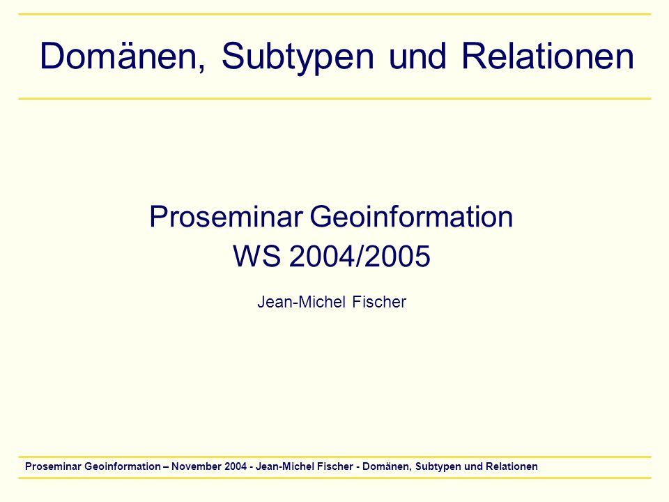 Domänen, Subtypen und Relationen