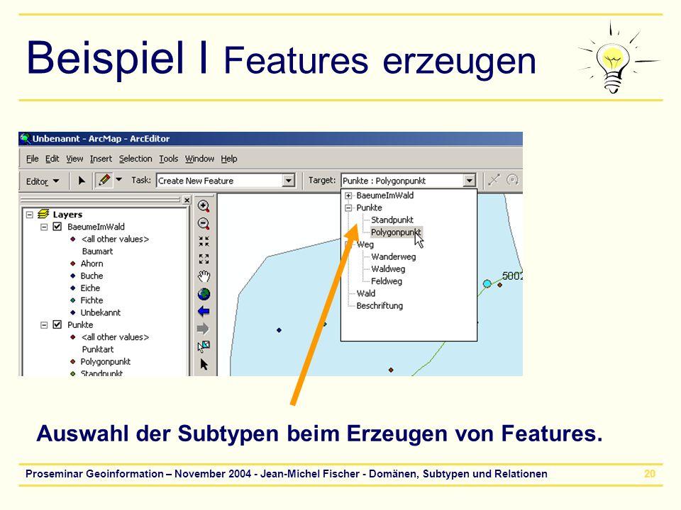 Beispiel I Features erzeugen