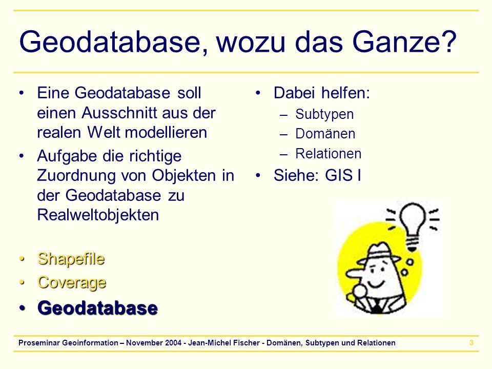 Geodatabase, wozu das Ganze