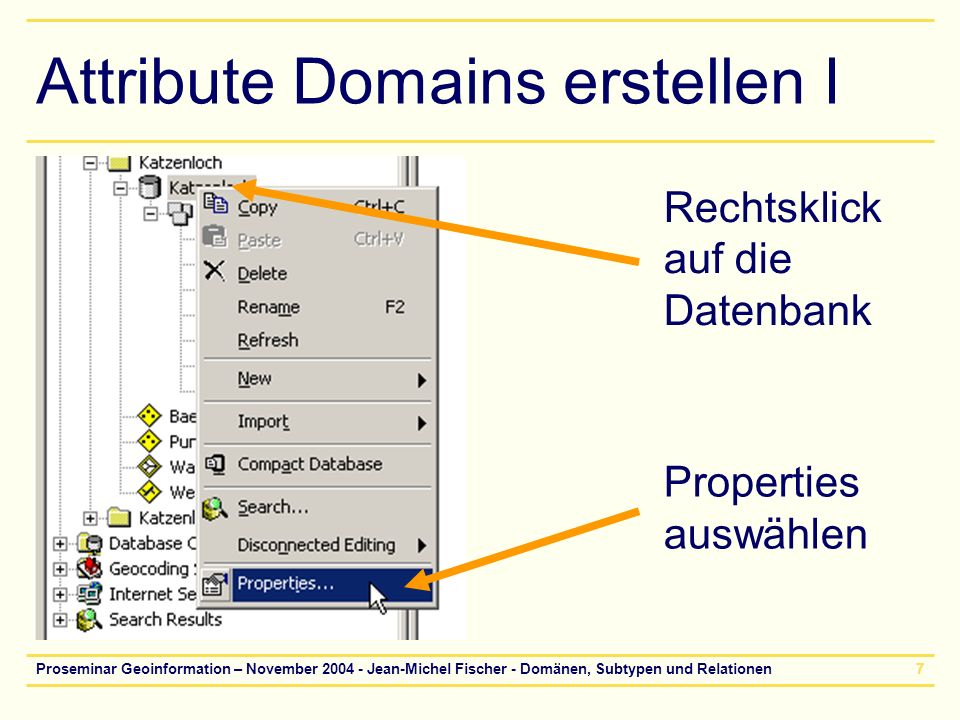 Attribute Domains erstellen I