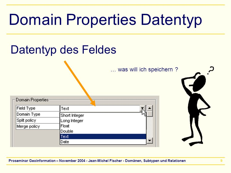 Domain Properties Datentyp