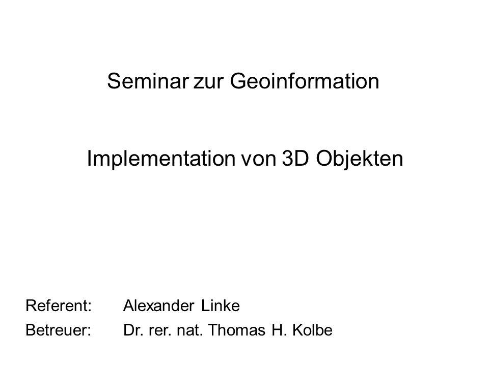 Seminar zur Geoinformation