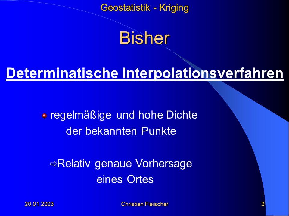 Determinatische Interpolationsverfahren