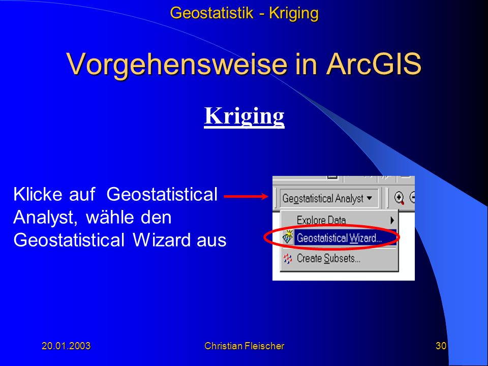 Vorgehensweise in ArcGIS
